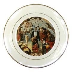Dog circus Porcelain Plates
