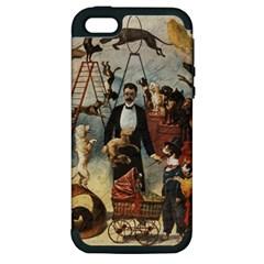 Dog Circus Apple Iphone 5 Hardshell Case (pc+silicone)