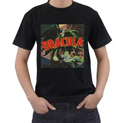 Dracula Men s T-Shirt (Black) (Two Sided)