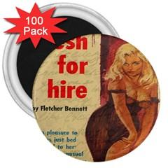 Vintage girl 3  Magnets (100 pack)