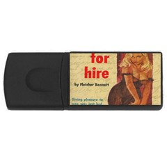 Vintage girl USB Flash Drive Rectangular (4 GB)