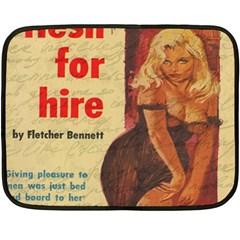 Vintage girl Double Sided Fleece Blanket (Mini)