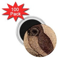 Vintage owl 1.75  Magnets (100 pack)