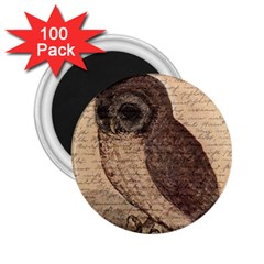 Vintage owl 2.25  Magnets (100 pack)