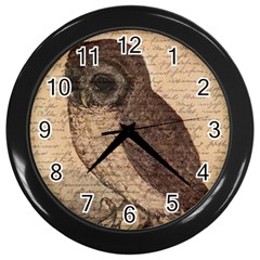 Vintage owl Wall Clocks (Black)