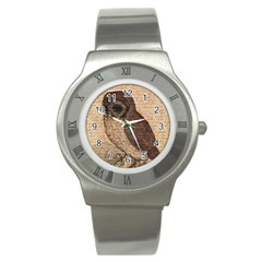 Vintage owl Stainless Steel Watch