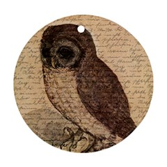 Vintage owl Round Ornament (Two Sides)