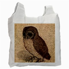 Vintage owl Recycle Bag (One Side)