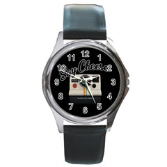 Say Cheese Round Metal Watch