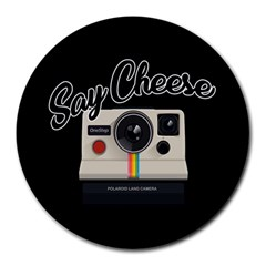 Say Cheese Round Mousepads