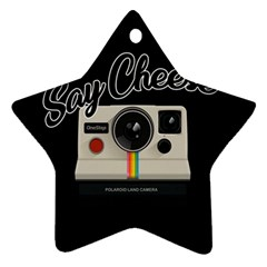 Say Cheese Ornament (Star)
