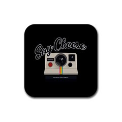 Say Cheese Rubber Coaster (Square)