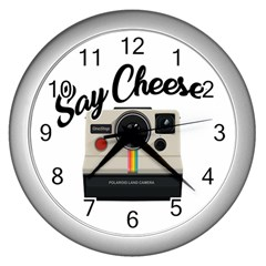 Say Cheese Wall Clocks (Silver)