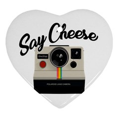Say Cheese Heart Ornament (Two Sides)