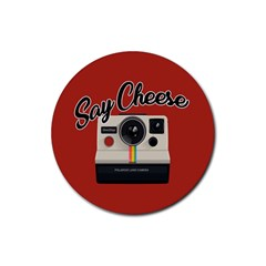 Say Cheese Rubber Coaster (Round)