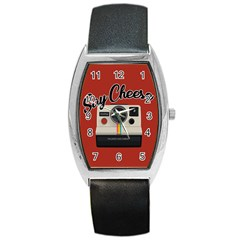 Say Cheese Barrel Style Metal Watch