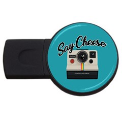 Say Cheese USB Flash Drive Round (4 GB)