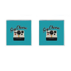 Say Cheese Cufflinks (Square)
