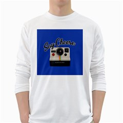 Say Cheese White Long Sleeve T-Shirts