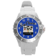 Say Cheese Round Plastic Sport Watch (l)