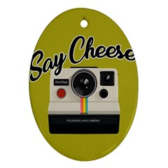 Say Cheese Ornament (Oval)