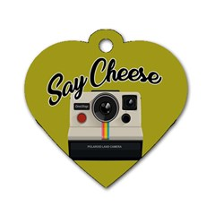 Say Cheese Dog Tag Heart (Two Sides)