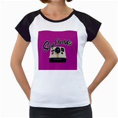 Say Cheese Women s Cap Sleeve T