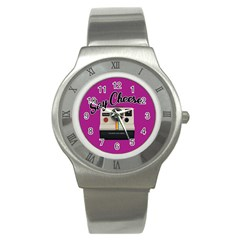 Say Cheese Stainless Steel Watch