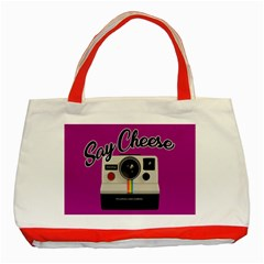 Say Cheese Classic Tote Bag (Red)