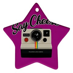 Say Cheese Star Ornament (Two Sides)