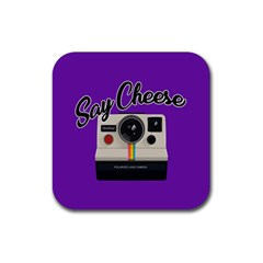 Say Cheese Rubber Square Coaster (4 pack)