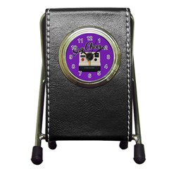 Say Cheese Pen Holder Desk Clocks