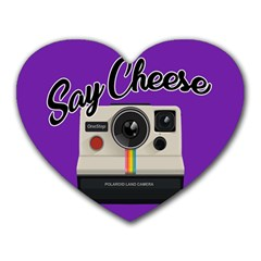 Say Cheese Heart Mousepads