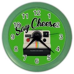 Say Cheese Color Wall Clocks