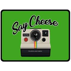 Say Cheese Fleece Blanket (Large)