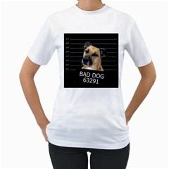 Bed dog Women s T-Shirt (White) (Two Sided)