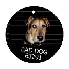 Bed dog Ornament (Round)