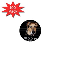 Bed dog 1  Mini Buttons (100 pack)