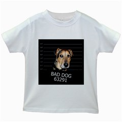 Bed dog Kids White T-Shirts