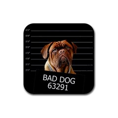 Bed dog Rubber Square Coaster (4 pack)