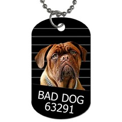 Bed dog Dog Tag (Two Sides)
