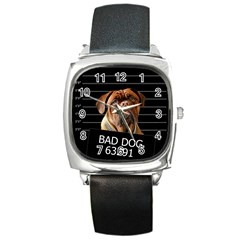Bed dog Square Metal Watch