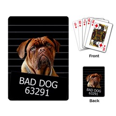 Bed dog Playing Card