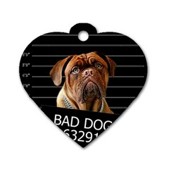 Bed dog Dog Tag Heart (One Side)