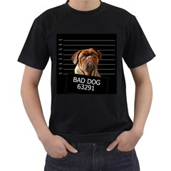 Bed dog Men s T-Shirt (Black)