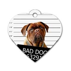 Bad dog Dog Tag Heart (Two Sides)
