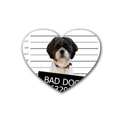 Bad dog Heart Coaster (4 pack)