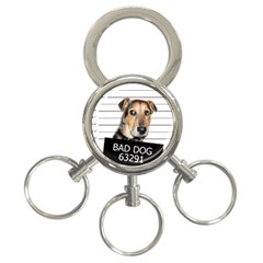 Bad dog 3-Ring Key Chains