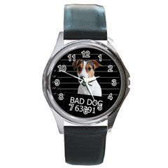Bad dog Round Metal Watch