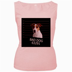 Bad dog Women s Pink Tank Top